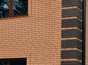 Фасад дома из газобетонных блоков - облицовочный кирпич